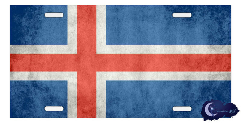 Icelandic Flag License Plate - Flag of Iceland