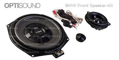 Vibe Optisound BMW 3 Series F34 F35 Front Door Speakers + Underseat Subwoofers