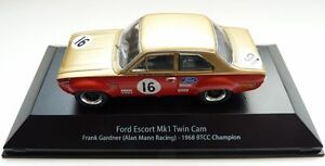ESCORT MK1 TWIN CAM FORD TOURING CAR DIECAST MODEL 1/43 COLLECTORS ITEM.