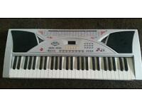 Electronic keyboard without charger, charger required