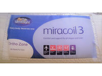 Silentnight Ortho Zone Miracoil 3 Double bed matress Orthopaedic.