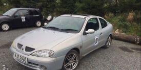 2001 Renault meganne targa rally stage drift