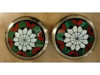 2 Tiffany Style Ceiling lights Uplighters