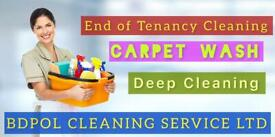 Professional Carpet Shampoo wash Deep Clean - End of Tenancy Cleaning