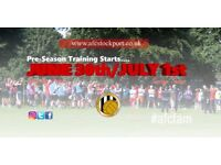 PRE-SEASON STARTING VERY SOON - GET INVOLVED!