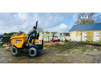 Digger and dumper with Operator for all your Groudworks & Landscaping requirements