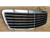 Mercedes E Class, 02-09 W211 Bonnet Grille, front bumper & passenger wing trim