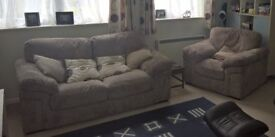 Cargo 2 seater sofabed and matching arm chair