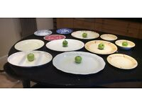 Selection of large China platters plates and bowls