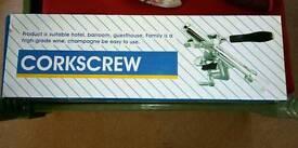 Bench mounted corkscrew