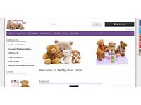 New Start e-commerce dropship website selling a range of personalised teddy bear gifts