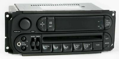 2004 Dodge Ram 2500 Radio AM FM CD Player w Aux Input P05064354 RBK Slider Ver