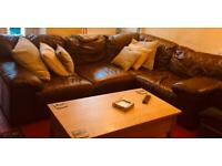 **** Reduced price!! *** leather corner sofa