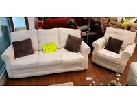 Collin&Hayes sofa + chair vgc