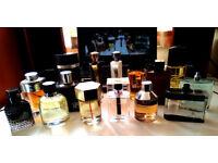 Fragrances: Dior D&G Valentino YSL Burberry Azzaro...