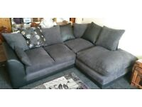 Byron right hand black and grey sofa.