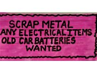 SCRAP METAL & ELECTRICAL ITEMS (I will collect See List of Areas Below)
