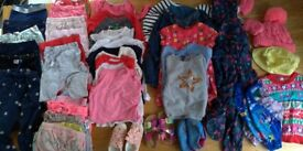 Various used/clean girls clothes. Age 3 to 4 (Bag No. 1)