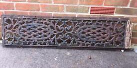 Cast iron bench back rest