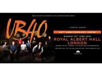 2 x UB40 Tickets Royal Albert Hall 25th June 2018