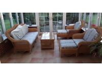 Beautiful Six Piece Colonial Wicker Conservatory Furniture