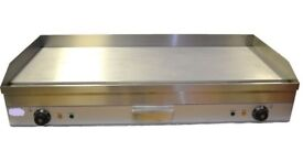 New Griddle Hotplate 100cm Flat Commercial Grade Stainless Steel