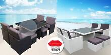 9 Pce Dining Set - Rattan Wicker  Cushions Outdoor Furniture Nerang Gold Coast West Preview