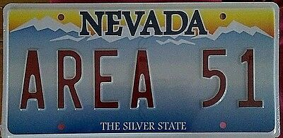 "Las Vegas Nevada ""AREA 51"" Souvenir/Novelty/Vanity License Plate"