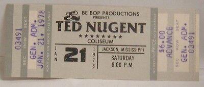 TED NUGENT - VINTAGE 1978 UNUSED WHOLE CONCERT TICKET