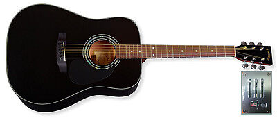 Zager Easy Play ZAD20E BK Acoustic Electric Black Guitar..rated in the top 2%! for sale  Los Gatos