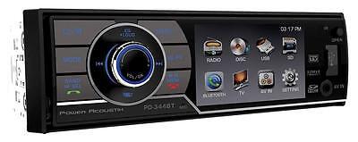"Power Acoustik Single Din PD-344B CD/DVD/MP3 Player 3.4"" LCD Display Bluetooth"