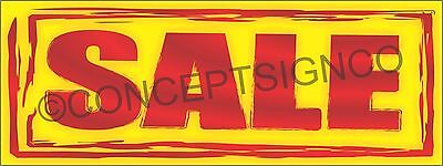 3'X8' SALE BANNER Outdoor Sign LARGE Special Big Event Savings Retail Store Red