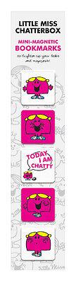 Mr Men Mini Magnetic Bookmarks - Little Miss Chatterbox - BNIP