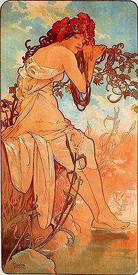 ALPHONSE MUCHA VINTAGE POSTER Summer Art Print RARE NEW (Mucha Vintage Poster)