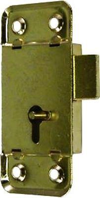 M-1871  LARGE BRASS PLATED FLUSH MOUNTED LOCK TWO WAY KEYHOLE 3