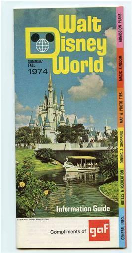 1974 GAF Information Guide to Walt Disney World Summer / Fall