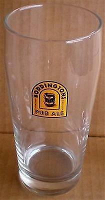 (BEER DRINKING GLASS TALL BODDINTONS PUB ALE ESTABLISHED SINCE 1778)