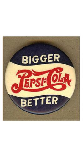 Original Vintage PEPSI COLA Bigger, Better PIN, Badge