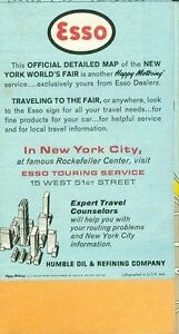 1964 New York World's Fair Official Detailed Map West Island Greater Montréal image 2