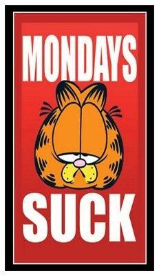 - Fridge Magnet: GARFIELD - MONDAYS SUCK! (Cat Humor)