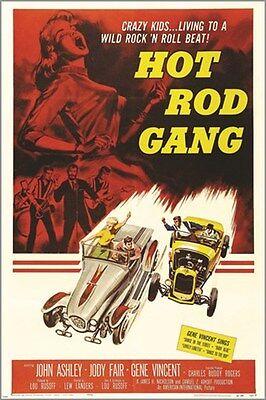 HOT ROD GANG american international 1958 VINTAGE MOVIE POSTER sexy hot (Vintage Hot Rod Art)