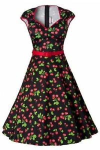 PINUP COUTURE retro Heidi Black Cherry Swing dress - Medium