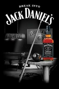 JACK-DANIELS-POSTER-Pool-Room-RARE-NEW-HOT-24X36