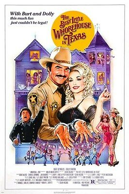 '82 THE BEST LITTLE WHOREHOUSE IN TEXAS movie poster DOLLY PARTON 24X36