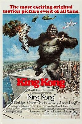 - KING KONG classic movie poster VIOLENT romantic BEAUTY and the BEAST 24X36