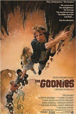 1985 Vintage Movie Poster The Goonies Brothers Treasure Map Adventure 24X36