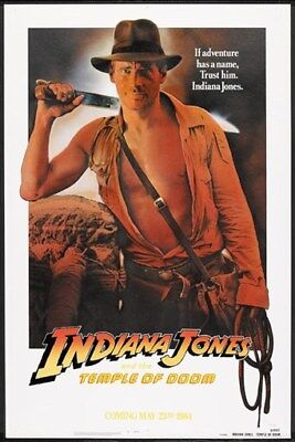 Indiana Jones And The Temple Of Doom  1984  Harrison Ford Movie Poster Print