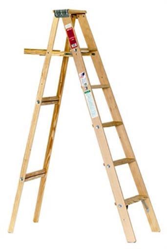 Michigan Ladder 110006 Wood Step Ladder, Type III, 6-Ft. - Q