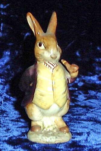 Beswick Beatrix Potter figurine Mr. Benjamin Bunny BP2 Gold Oval