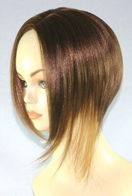 RIHANNA COSTUME WIG BLACK BROWN BLONDE WOMAN SHORT BOB NO BANGS ASYMMETRICAL